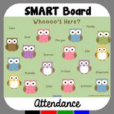 Owl Theme Attendance for SMART Board