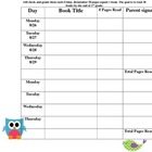 Owl Theme Reading Log