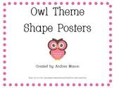 Owl Theme Shape Posters 2D
