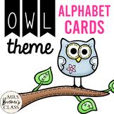 Owl Themed Alphabet Flashcards