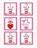 Owl Themed Calendar Cards - February