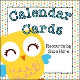 Owl Themed Calendar Cards {Hoot Bird} {Morning Math} Numbe