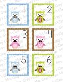 Owl Themed Calendar Cards - June