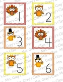 Owl Themed Calendar Cards - November
