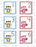 Owl Themed Calendar Cards - September
