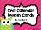Owl Themed Calendar Cards