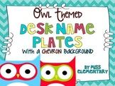 Owl Themed Desk Nameplates