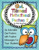 Owl Themed Motivational Posters Set 2