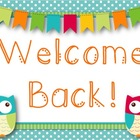 Owl Themed Welcome Back Printable (Freebie!)