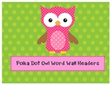 Owl Themed Word Wall Headers