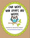 Owl Themed Word Wall Letter Cards and 300 Words