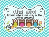 Owl Themed Writing Process Clip Chart