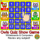 Owls Quiz Show Quiz-E Game - Review any Subject – For Whit