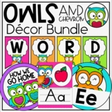 Owls and Chevron ULTIMATE Classroom Decor Set