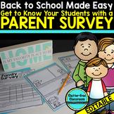 PARENT SURVEY: TELL ME ABOUT YOUR CHILD - {Blackline Desig