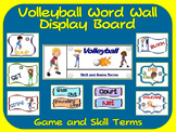 Volleyball Word Wall Display: Skill, Graphics & Game Terms