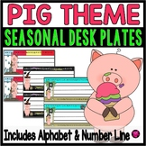 PIG THEME- PIGERRIFIC DESKPLATES AND NAMEPLATES/13 DIFFERE