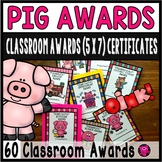 END OF SCHOOL PIG AWARDS