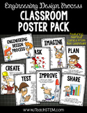 STEM Engineering Design Process Posters 2 Versions - Upper