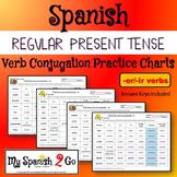 PRESENT TENSE: Regular --er/--ir Practice Conjugating Verb Charts