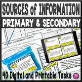 PRIMARY AND SECONDARY SOURCES TASK SET/LANGUAGE ARTS/SOCIA