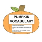 PUMPKIN VOCABULARY: Freebie