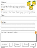PUMPKINS WORD WORK LITERACY ACTIVITY: Read.Trace.Build & W