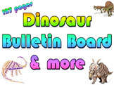 Package: Dinosaur bulletin board, calendar, writng prompts & more