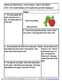 Page 14 of Common Core Math Word/Story Problems Grade 1 by
