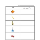 Paper Clip Measuring Chart