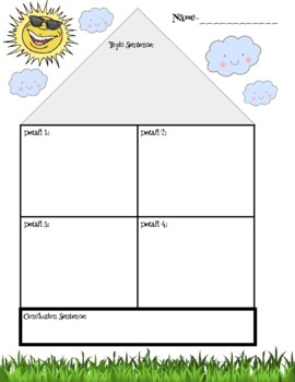 Paragraph House Graphic Organizer for Expository Writing o