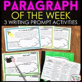 Paragraph of the Week: 3 Weeks FREE!! } Writing Homework,