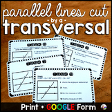 Angle Pairs Task Cards: Parallel Lines