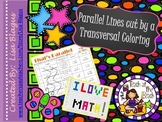 Parallel Lines Cut By a Transversal Coloring Fun Activity