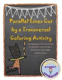 Parallel Lines cut by a Transversal & Angle Relation Color