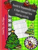 Christmas Parallel & Perpendicular, Slope-Intercept, and P