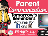 Parent Communication {Tomorrow's Reminders} {Facebook and