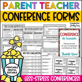 Parent Conference Forms Packet - Worry-Free Parent Teacher Conferences!
