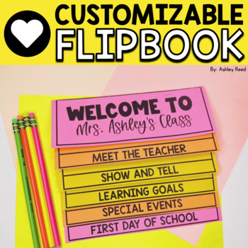 Parent Handbook Flipbook  *New and Improved Version *{EDITABLE)