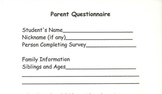 Parent Questionnaire