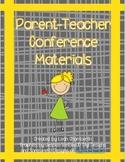 Parent Teacher Conference Materials Packet