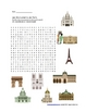 Paris Monuments Worksheet, Word Search and Crossword