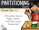 Partitioning Shapes: Halves & Fourths 1.G.3