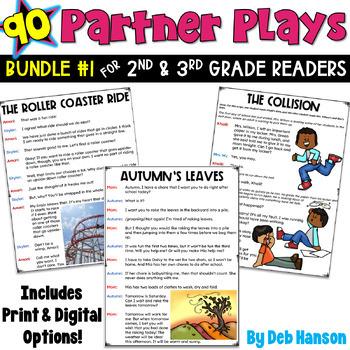 Partner Plays 2nd- 3rd BUNDLE.. SET 1 (90 2-person scripts to improve fluency)