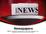Parts of  Newspaper PPT