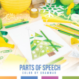 Parts of Speech Coloring Sheet - Christmas