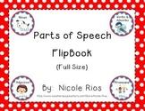 Parts of Speech Flipbook (Full-Size)