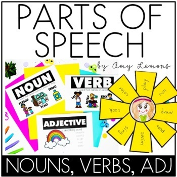 Parts of Speech:  Nouns, Adjectives, and Verbs