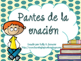 Parts of Speech Posters in Spanish PLUS PPT / Partes de la