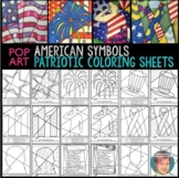 Patriotic Interactive Coloring Sheets